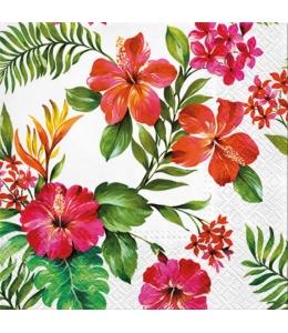 """Салфетка для декупажа """"Гавайские цветы"""", 33х33 см, Польша"""