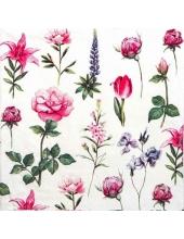 """Салфетка для декупажа """"Садовые цветы"""", 33х33 см, Paw"""
