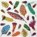 """Салфетка для декупажа """"Разноцветные перья"""", 33х33 см, Германия"""