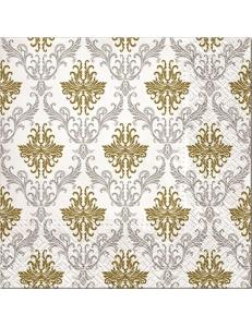 """Салфетка для декупажа """"Королевский орнамент Серебро"""", 33х33 см, Paw"""
