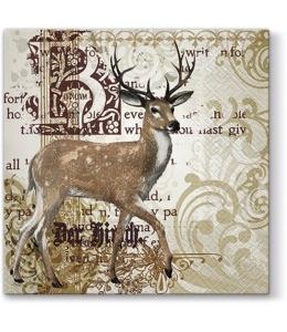 """Салфетка для декупажа """"Величественный олень"""", 33х33 см, Paw"""