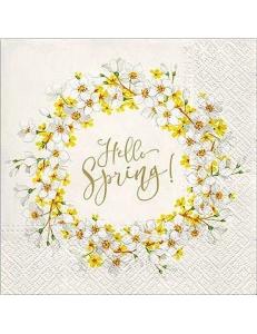 """Салфетка для декупажа """"Привет Весна"""", 33х33 см, Польша"""