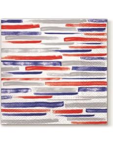 """Салфетка для декупажа """"Акварельные полоски синие"""", 33х33 см, Paw"""
