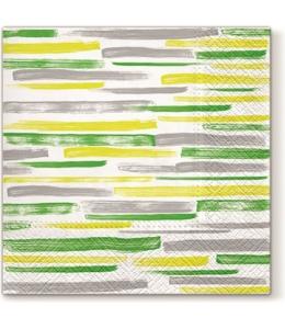 """Салфетка для декупажа """"Акварельные полоски зеленые"""", 33х33 см, Paw"""
