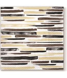 """Салфетка для декупажа """"Акварельные полоски коричневые"""", 33х33 см, Paw"""