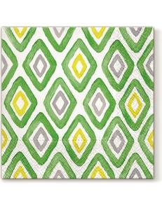 """Салфетка для декупажа """"Акварельные ромбы зеленые"""", 33х33 см, Paw"""