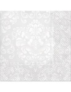 "Салфетка для декупажа ""Красивые моменты Светло-серый"", 33х33 см, Paw"