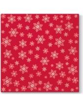 "Салфетка для декупажа ""Снежинки на красном фоне"", 33х33 см, Paw (Польша)"