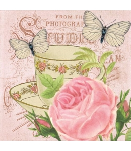 "Салфетка для декупажа ""Утренний чай"", 33х33 см, Польша"