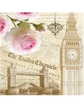 """Салфетка для декупажа """"Лондон, винтаж"""", 33х33 см"""