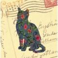 """Салфетка для декупажа """"Кошка и старое письмо"""", 33х33 см, Германия"""