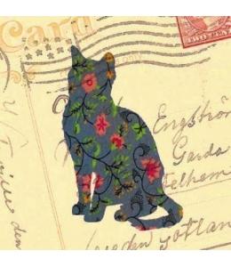 """Салфетка для декупажа """"Кошка и старое письмо"""", 33х33 см, Польша"""