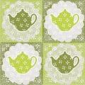 """Салфетка для декупажа """"Зеленые чайники"""", 33х33 см, Германия"""