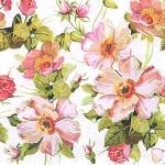"""Салфетка для декупажа """"Цветы пастель"""", 33х33 см"""