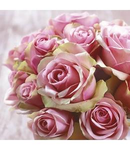 """Салфетка для декупажа """"Элегантные розы"""", 33х33 см, Польша"""
