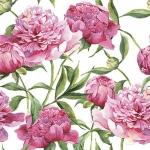 """Салфетка для декупажа """"Розовые пионы"""", 33х33 см"""