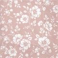 "Салфетка для декупажа ""Цветы на розовом"", 33х33 см"