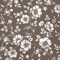 "Салфетка для декупажа ""Цветы на коричневом"", 33х33 см"
