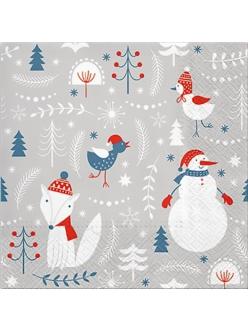Новогодняя салфетка для декупажа Просто Зима, 33х33 см, Paw (Польша)