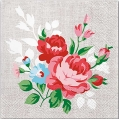 """Салфетка для декупажа """"Букет с красными розами"""", 33х33 см, Польша"""