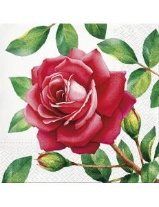"""Салфетка для декупажа """"Прекрасная роза"""", 33х33 см, Paw"""