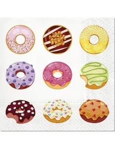 """Салфетка для декупажа """"Вкусные пончики"""", 33х33 см, Paw"""