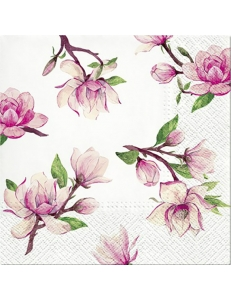 "Салфетка для декупажа ""Розовая магнолия"", 33х33 см, Paw"