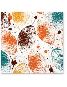 """Салфетка для декупажа """"Листья с медовым оттенком"""", 33х33 см, Польша"""