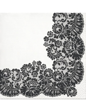 """Салфетка для декупажа """"Кружевная рамка Черная"""", 33х33 см, Paw"""