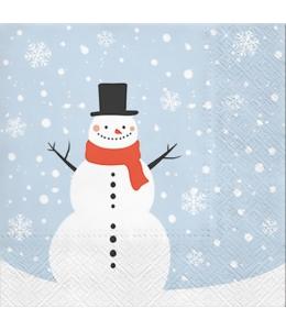 "Салфетка для декупажа ""Счастливый снеговик"", 33х33 см, Paw (Польша)"