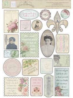 Стикеры из кардстока C'est la Vie, 21,6х28 см , Melissa Frances