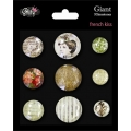 Акриловые камни для скрапбукинга GLITZ French Kiss, 9 шт.