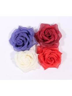 """Цветы тканевые для скрапбукинга """"Розы"""", 4 шт, 55 мм"""