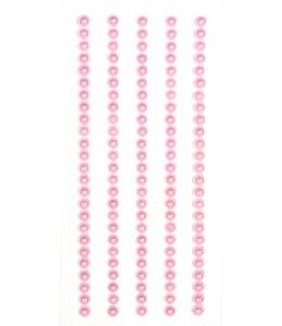Полужемчужинки розовые на клеевой основе, 125шт, ScrapBerry's