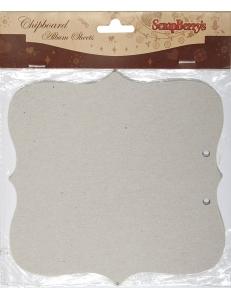 """Листы из чипборда для альбома """"Классик"""", 15х15 см, 2 шт, ScrapBerry's"""