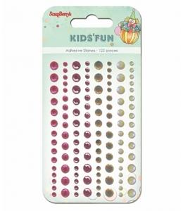 Стразы клеевые, Розовые и белые, 120 шт, 4 цвета, ScrapBerry's
