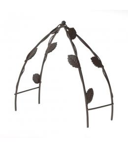 Миниатюрный садовый трельяж коричневый металлический, 10х5,5х11,8 см