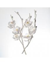 Цветы тканевые Вишня белая, 2 шт, ScrapBerry's