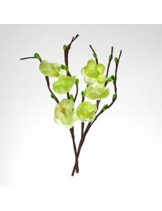 Цветы тканевые Вишня зеленая, 2 шт, ScrapBerry's