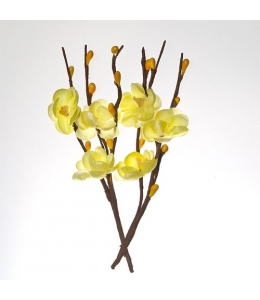 Цветы тканевые Вишня желтая, 2 шт, ScrapBerry's