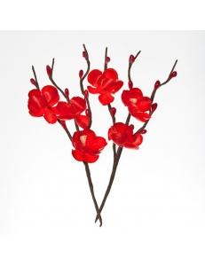Цветы тканевые Вишня красная, 2 шт, ScrapBerry's