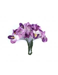 Цветы бумажные для скрапбукинга Орхидеи фиолетовые, 10 шт., ScrapBerry's