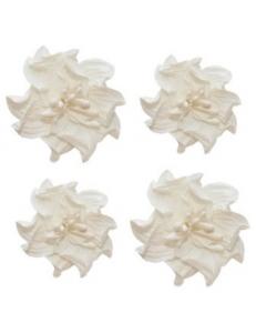 Цветы бумажные для скрапбукинга Фиалки кудрявые белые, 4 шт., ScrapBerry's