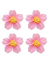 Цветы бумажные для скрапбукинга Плюмерия розовая, 4 шт., ScrapBerry's
