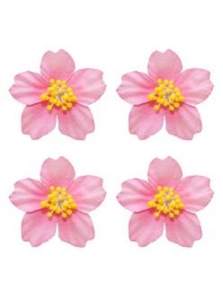 Цветы миниатюрные бумажные Плюмерия розовая, 4 шт., ScrapBerry's