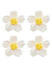 Цветы бумажные для скрапбукинга Плюмерия белая, 4 шт., ScrapBerry's