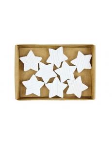 """Новогоднее украшение """"Белые звёздочки"""", 8 шт, ScrapBerry's"""