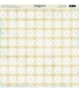 Бумага для скрапбукинга односторонняя Authentique, DEL002 Elegant, 30,5х30,5 см