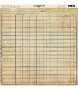 Бумага для скрапбукинга односторонняя Authentique, GLY001 Honor, 30,5х30,5 см