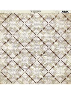 Бумага для скрапбукинга односторонняя Authentique, NOSS025 Flutter, 30,5х30,5 см